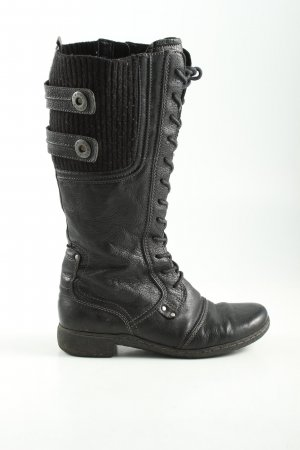 Camel Active Lace-up Boots black casual look