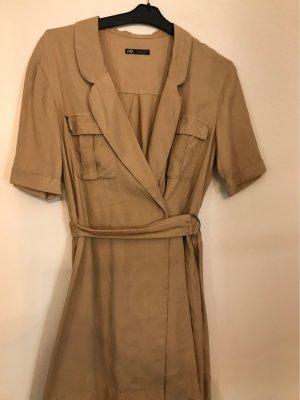 Zara Abito blusa camicia color cammello Cotone