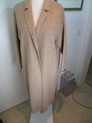 Camel Mantel beige meliert von Zara Handmade ungefuettert xl