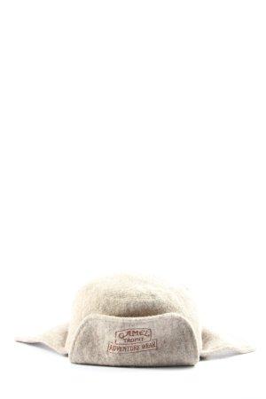 CAMEL TROPHY Chapeau d'aviateur brun-rouge lettrage imprimé