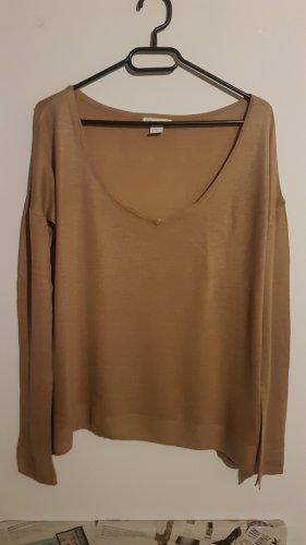 Camel V-Ausschnitt Pullover