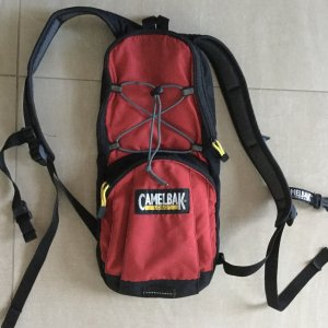 Trekking Backpack black-brick red