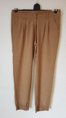 Tally Weijl Chino marrón arena-camel tejido mezclado