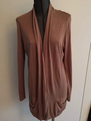 Camelfarbene Strickjacke