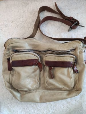 Camelfarbene Vintage Liebeskind Tasche aus Leder