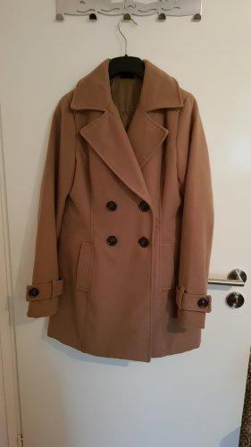 Flame Manteau mi-saison chameau tissu mixte