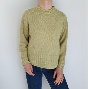 Camelot M beige grün Cardigan Strickjacke Oversize Pullover Hoodie Pulli Sweater Top True Vintage