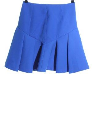 Cameo Plaid Skirt blue casual look
