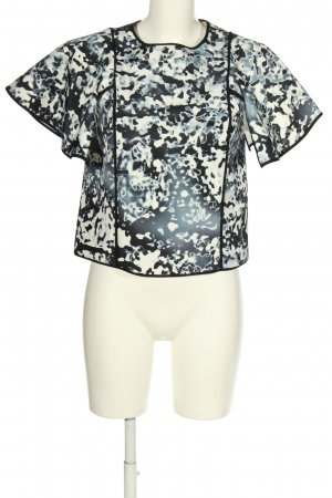 Cameo Short Sleeved Blouse abstract pattern elegant