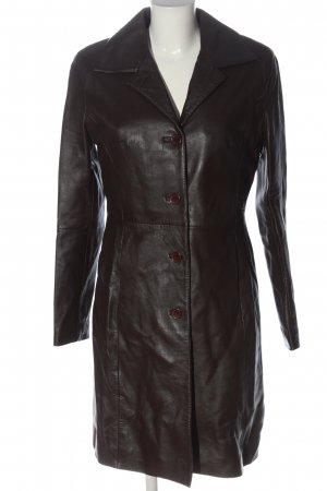 Camera Skórzany płaszcz brązowy W stylu casual