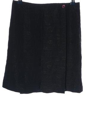 Camera Spódnica mini czarny-brązowy Wzór w kwiaty W stylu biznesowym