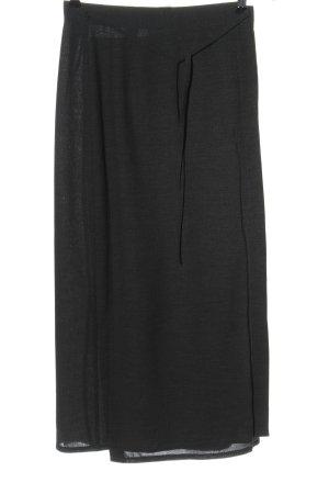 Camera Falda cruzada negro moteado look casual