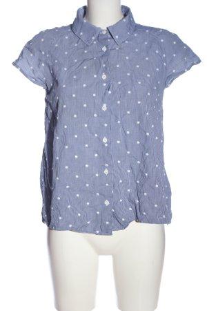 Camicetta Snob Camicia a maniche corte blu-bianco motivo a quadri stile casual