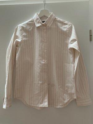 Alberto Aspesi Chemise à manches longues blanc cassé-rosé