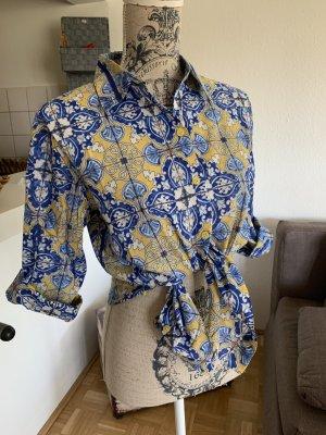CaMiCiA! Baumwoll Bluse/Shirt - Yellow/Blue - Größe S 34/36