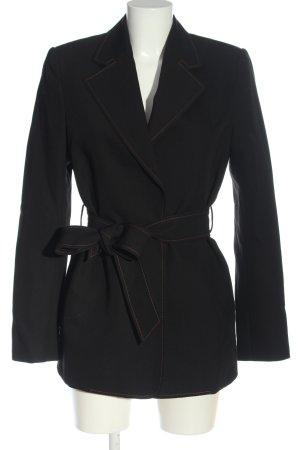 CAMILLA AND MARC Lange blazer zwart gestippeld casual uitstraling