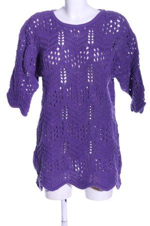 Camilla Pull à gosses mailles violet style décontracté