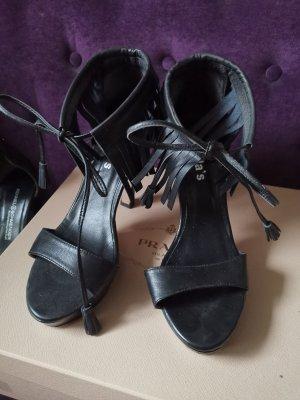 Camilla's tolle high heels mit Fransen Leder wie neu