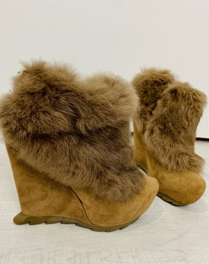 Camilla Skovgaard Wedge Booties light brown-camel leather