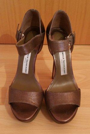 Camilla Skovgaard Platform Sandals bronze-colored leather