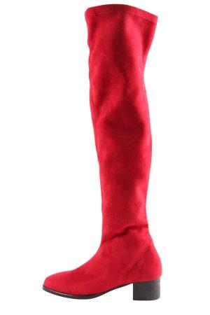 Camilla Bottes à tige large rouge style extravagant