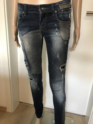 Camilla Low Rise Jeans multicolored cotton