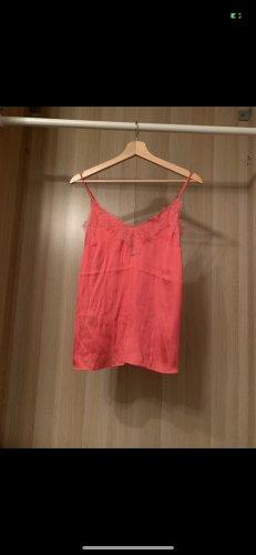 H&M Podkoszulek na ramiączkach łosowiowy-jasnoczerwony
