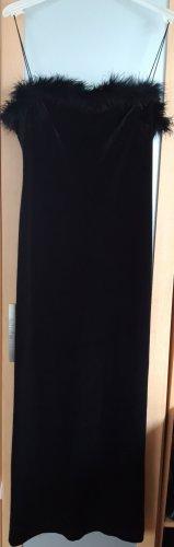 Camisolekleid Samtkleid Abendkleid schwarz Gr.36