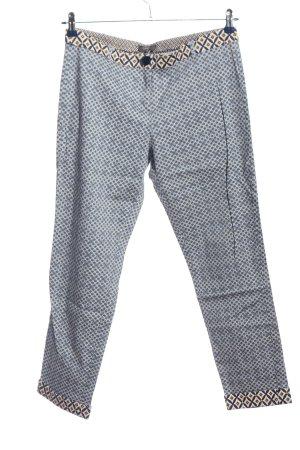 Camomilla Baggy Pants blau-hellgrau Allover-Druck Casual-Look