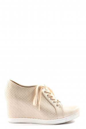 Camomilla Wedge Sneaker cream casual look