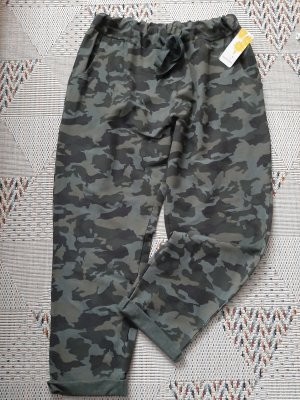 Pantalone kaki grigio scuro-cachi Tessuto misto
