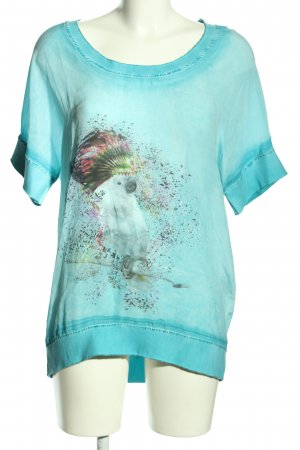 Camouflage Couture Flounce Top themed print casual look