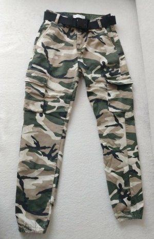 Goodies Pantalon cargo multicolore coton