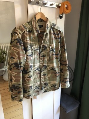 Topshop Military Jacket multicolored cotton