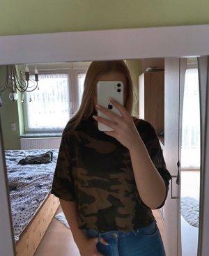 H&M Cropped shirt veelkleurig
