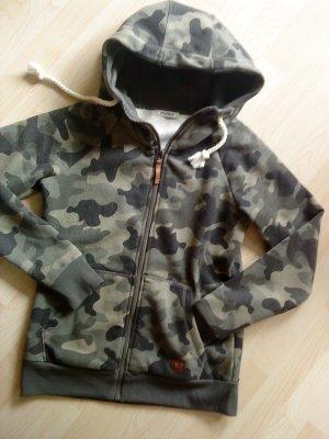 Camouflage Sweatjacke in 38/40
