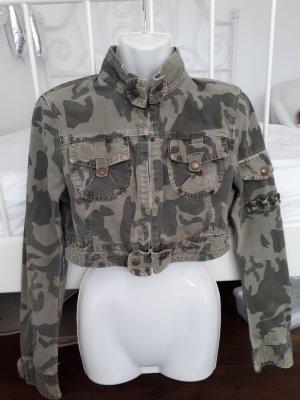 Camounflage Jeans Jacke Gr M