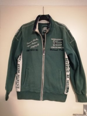 Camp David Sweatjack grijs-groen