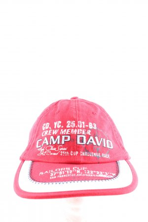 Camp David Visor Cap printed lettering casual look