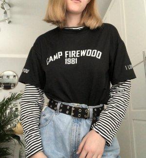 Sweatshirt noir-blanc