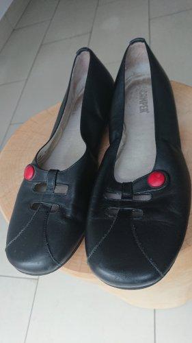 Camper Slip-on Shoes black-dark red leather
