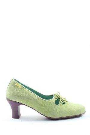 Camper Hochfront-Pumps grün-lila Elegant