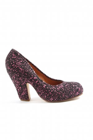 Camper High-Front Pumps black-pink graphic pattern casual look