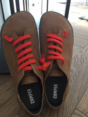 Camper Lace Shoes light brown leather