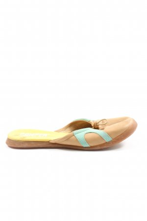 Camper Sabots nude-turquoise casual look
