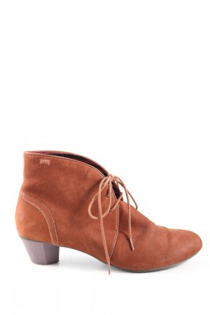Camper Lace-up Booties brown casual look