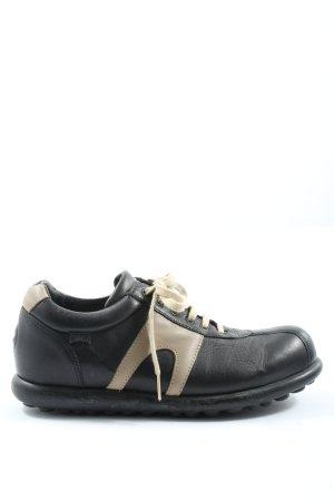 Camper Schnürschuhe schwarz-wollweiß Casual-Look
