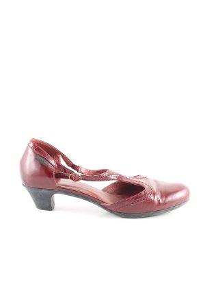 Camper Zapatos de tacón con barra en T rojo look casual