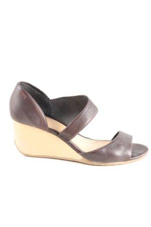 Camper Wedge Sandals brown-cream casual look