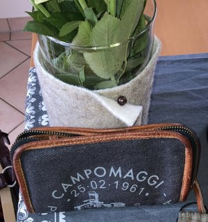 Campomaggi Wallet blue-slate-gray